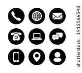 contact us icon set   phone... | Shutterstock .eps vector #1913566543