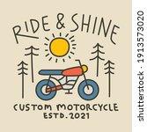 Biker Nature Line Badge Patch...