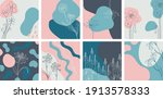 floral minimal banners set.... | Shutterstock .eps vector #1913578333