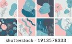 floral minimal banners set.... | Shutterstock .eps vector #1913578333