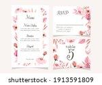 wedding menu set design template | Shutterstock .eps vector #1913591809
