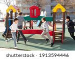 group of children playing on...   Shutterstock . vector #1913594446