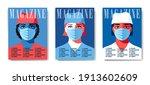 set of magazine cover designs ...   Shutterstock .eps vector #1913602609