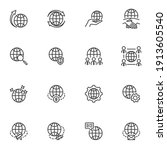 global business line icons set  ... | Shutterstock .eps vector #1913605540
