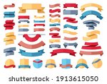 ribbon stripes template set.... | Shutterstock .eps vector #1913615050