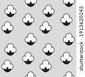 cotton flower icon seamless... | Shutterstock .eps vector #1913620243
