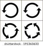 4 rotate arrow icon sign.... | Shutterstock .eps vector #191363633