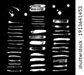 white ink brush strokes vector... | Shutterstock .eps vector #1913641453