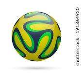 brazilian soccer ball 2014.... | Shutterstock .eps vector #191364920