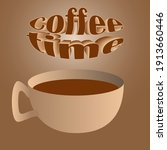 vector illustration with a cup... | Shutterstock .eps vector #1913660446
