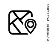 maps icon vector logo symbol | Shutterstock .eps vector #1913663809