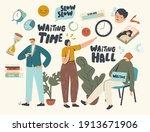 long wait  slow time concept.... | Shutterstock .eps vector #1913671906