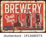 craft beer brewery rusty metal... | Shutterstock .eps vector #1913680573