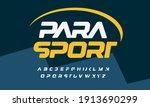 para sport bold italic font... | Shutterstock .eps vector #1913690299