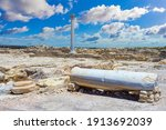 Cyprus. Paphos. The Remains Of...