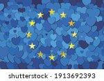 european union flag made of...   Shutterstock .eps vector #1913692393