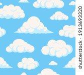 cartoon cloud vector seamless...   Shutterstock .eps vector #1913693320