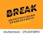 broken style font design ... | Shutterstock .eps vector #1913693893