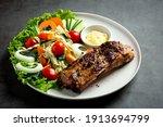 Roasted Pork Steak And...