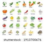 vegan  vegetarian set of icons...   Shutterstock .eps vector #1913700676