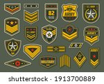 usa armed forces badges ... | Shutterstock .eps vector #1913700889