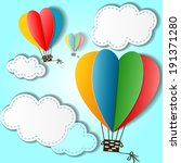 cartoon background with heart... | Shutterstock . vector #191371280