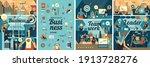 business illustration. set of... | Shutterstock .eps vector #1913728276