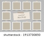 set of  beige square photo... | Shutterstock .eps vector #1913730850