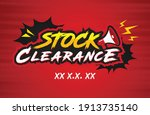 stock clearance discount... | Shutterstock .eps vector #1913735140