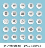e commerce vector icons on...