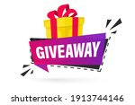 giveaway  enter to win. social... | Shutterstock .eps vector #1913744146