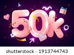 50k or 50000 followers thank...   Shutterstock .eps vector #1913744743