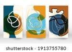 scribbles design. set of... | Shutterstock .eps vector #1913755780