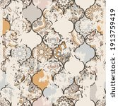 seamless vintage pattern with... | Shutterstock .eps vector #1913759419