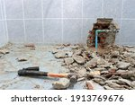 Plumbing Problems. A Wall Of A...