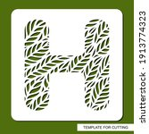 stencil with the letter h made... | Shutterstock .eps vector #1913774323