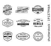 nine high quality vector... | Shutterstock .eps vector #191379464