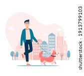 vector illustration. boy...   Shutterstock .eps vector #1913799103