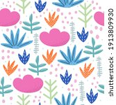 seamless pattern with fantasy... | Shutterstock .eps vector #1913809930