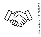 shake hand line icon. simple...   Shutterstock .eps vector #1913820253