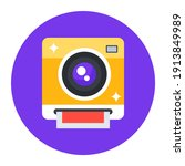 instant camera  flat rounded... | Shutterstock .eps vector #1913849989