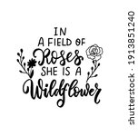 in a field of roses she is a...   Shutterstock .eps vector #1913851240
