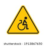 vector triangle yellow sign... | Shutterstock .eps vector #1913867650