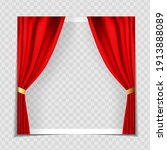 red cinema curtains background... | Shutterstock .eps vector #1913888089