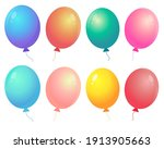 collection of colorful balloons.... | Shutterstock .eps vector #1913905663