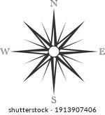 classic retro wind rose or... | Shutterstock .eps vector #1913907406