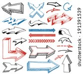collection of various pencil... | Shutterstock .eps vector #191391539