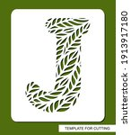 stencil with the letter j made... | Shutterstock .eps vector #1913917180
