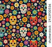 dia de los muertos seamless... | Shutterstock .eps vector #1913930536
