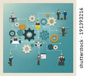 business gears infographics... | Shutterstock . vector #191393216